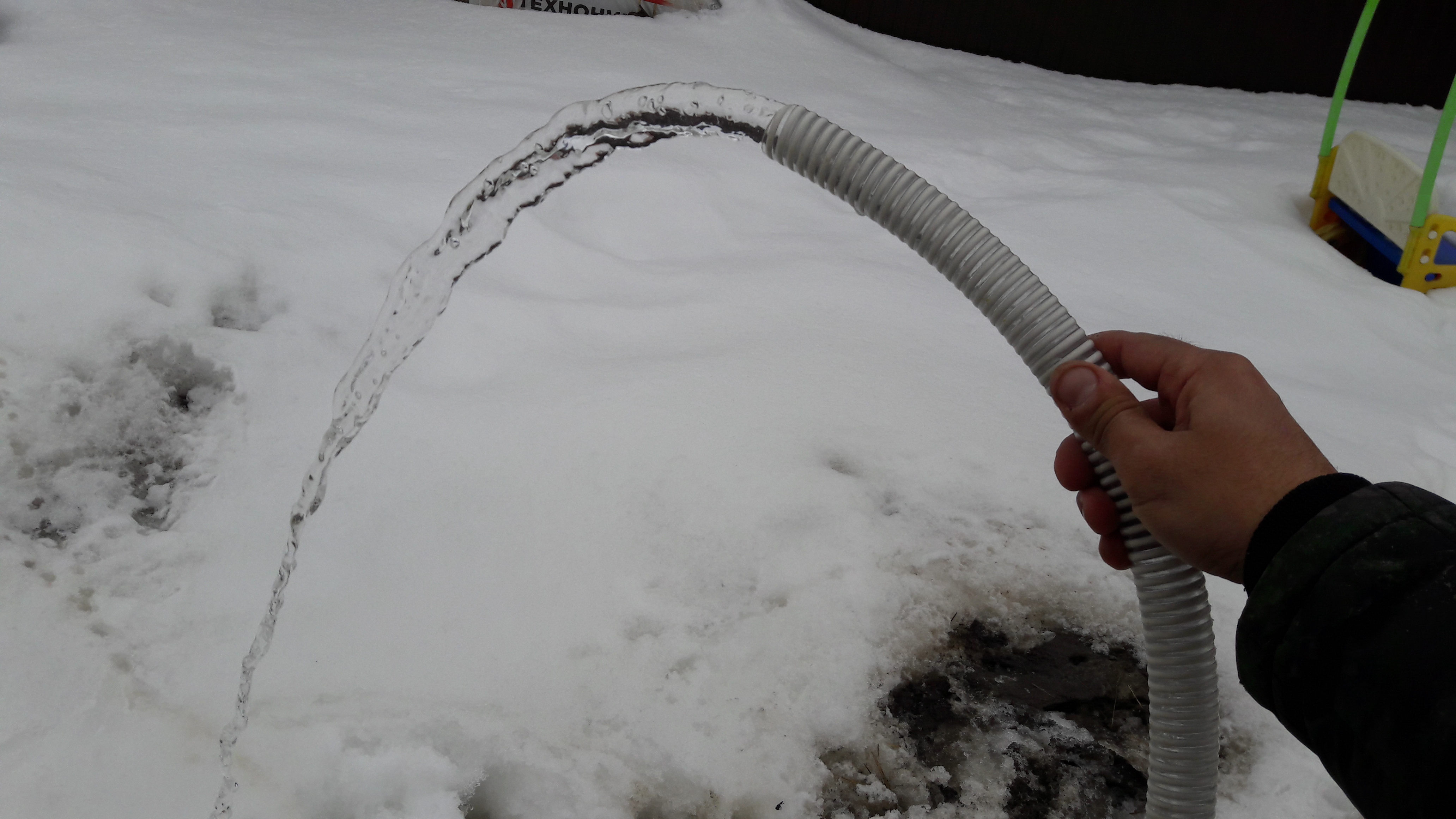 Напор воды из скважины Шланг 1 дюйм